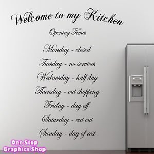 Genial 1Stop Graphics Shop Welcome To My Kitchen Wall Art Quote Sticker   Kitchen  Dining Room Love