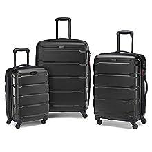 Samsonite Omni PC Hardside Luggage, Black, 3-Piece Set