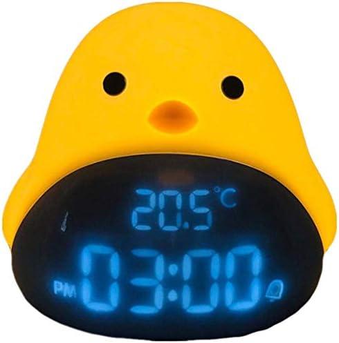 NSHUN ベスト・モールは夜の光と温度表示デスククロック、モーニングバードスタイルでサイレント・多機能を非ティッキング、時計鳥のデザインは、LEDディスプレイ