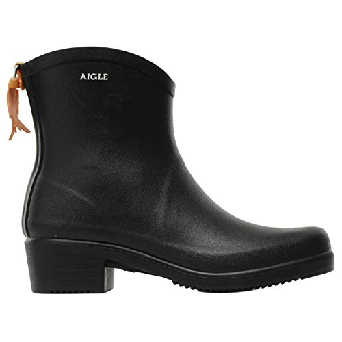 Aigle Womens Miss Juliette Bottillon Black Rubber Boots EU 39