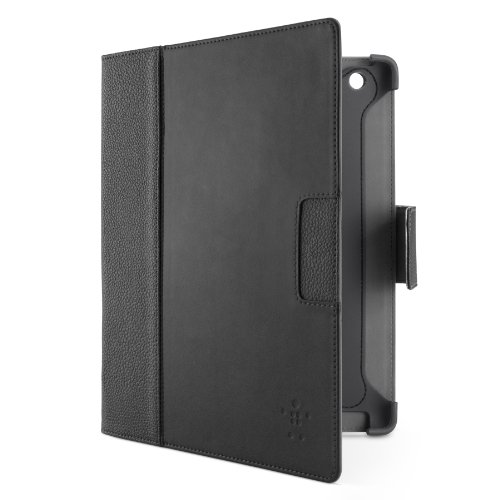 Belkin Cinema Leather Folio Case / Cover with Stand for Apple iPad with Retina Display (4th Generation) & iPad 3 and iPad 2 (Black) by Belkin