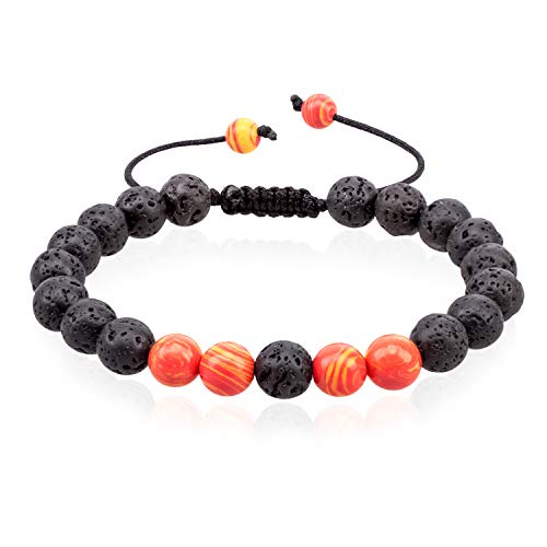 - VLAWISE Anxiety Essential Oil Diffuser Bracelets for Depression-Stress Relief with Lava Stone,Aromatherapy,Healing Holistic Jewelry A1