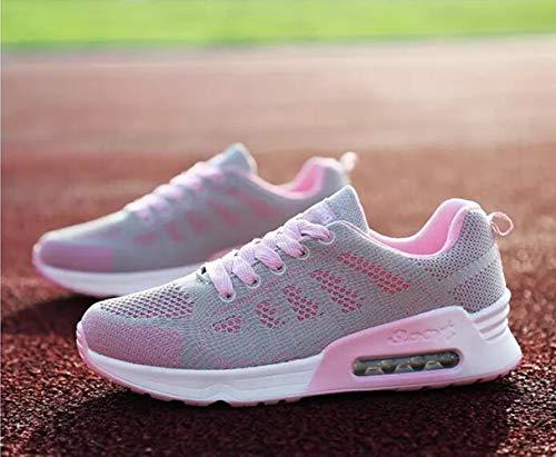 PAMRAY da Grigio Fitness 1 Maglia Nero Allacciare Scarpe 35 Sports Blu Donna Sneaker 44 da Air Running Bianco Cushion Grigio Ginnastica OqOwUr0x8