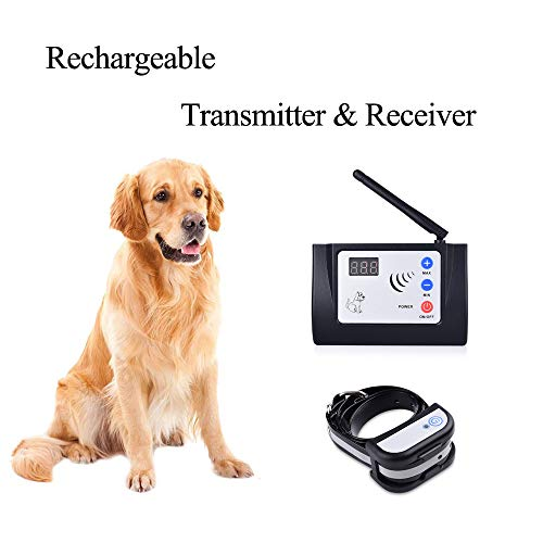 NeoPaw Dog No Bark Training Collar with Remote Wireless Dog Fence Containment System