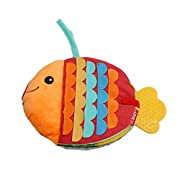 UNKE Animals Fish Soft Cloth Baby Intelligence Development Learn Picture Cognize Book