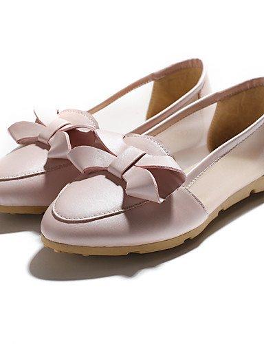 us8 Eu39 Cn39 De Puntiagudos Pink planos tacón Rosa casual Zq Mujer semicuero Blanco us8 comfort Zapatos White Uk6 Plano azul Gyht fqFWwW4ZC
