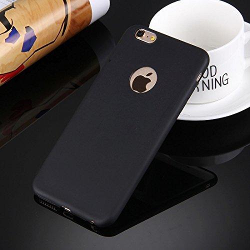 Phone Taschen & Schalen Für iPhone 6 Plus & 6s Plus Solid Color TPU Schutzhülle mit Rundloch ( Color : Black )