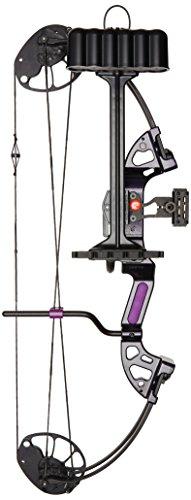 PSE Ready to Shoot Mini Burner Arco de poleas, Lluvia púrpura, 18 kg, Mano Izquierda