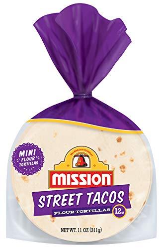 Mission Street Taco Flour Tortillas | Trans Fat Free | Mini Soft Taco Size | 12 Count