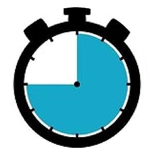 alfombrilla de ratón cronómetro de tiempo: 45 segundos / 45 minutos / 9 horas - ronda - 20cm