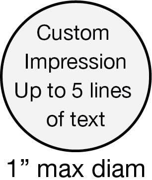 Trodat Printy 46025 Personalized Individual Custom Self Inking Stamp 1 diam.