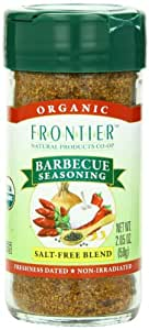 Frontier Organic Seasoning Blend, Barbecue, 2.05 Ounce