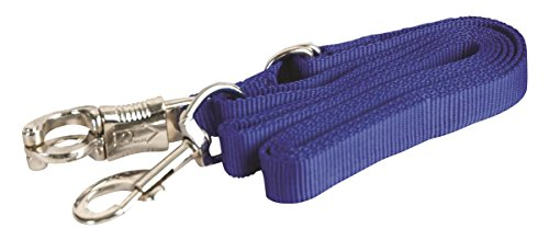 GATSBY LEATHER COMPANY 284220 Adjustable Nylon Crossties with Panic Snap Royal Blue, 5-9'