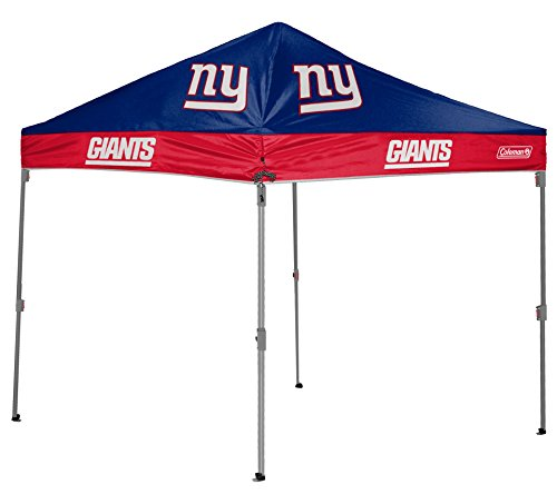 NFL Instant Pop-Up Canopy Tent with Carrying Case, 10x10, New York Giants