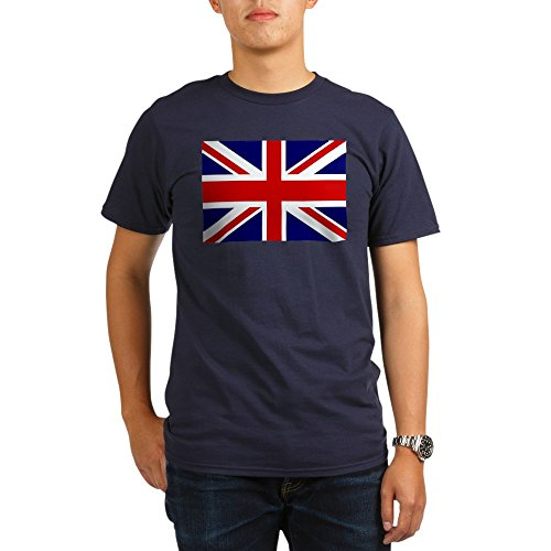Royal Lion Organic Men's T-Shirt Dark British English Flag HD - Pacific, (British Organic Mens T-shirt)