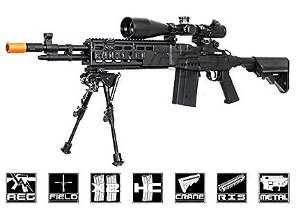 2a1f1f46c257 Amazon.com : echo1 full metal m14 combat master in black(Airsoft Gun ...