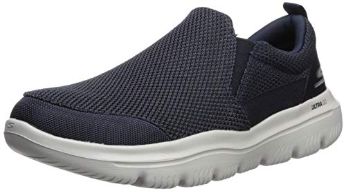 Walking Men Shoe (Skechers Men's GO Walk Evolution Ultra-Impeccable Sneaker Navy/Gray 12.5 Extra Wide US)