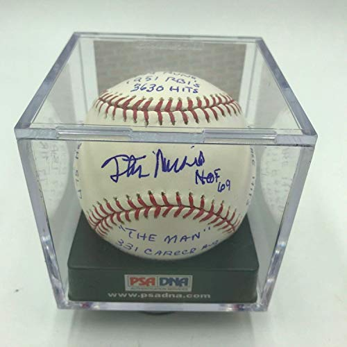 Beautiful Stan Musial Autographed Signed Heavily Inscribed Stat MLB Baseball Memorabilia PSA/DNA - Certified Signature