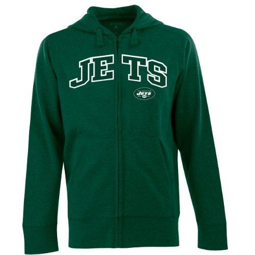 NFL Men's New York Jets Split Applique Full Zip Hood (Dark Pine, XX-Large)