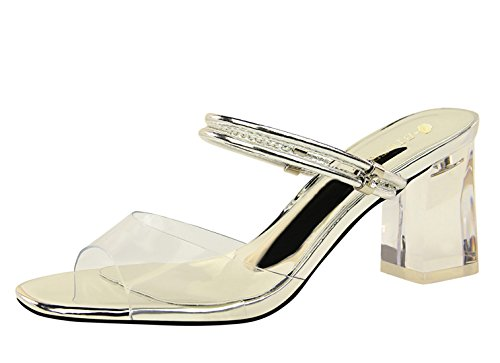 DS169 Miyoopark Silver Femme pour 1 MiyooparkUK Sandales 750waq