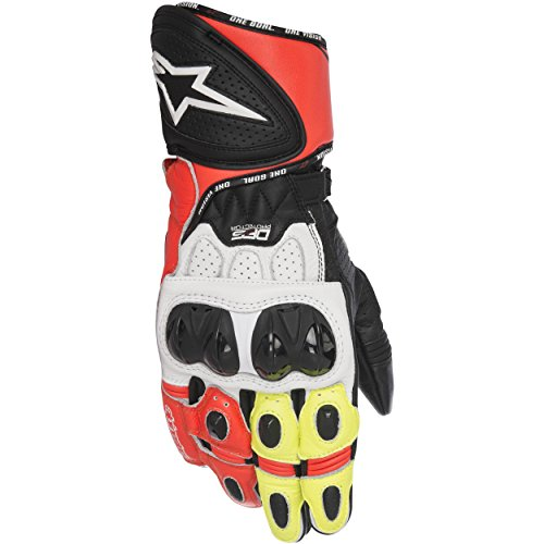 - Alpinestars GP Plus R Leather Gloves Black/White/Yellow/Red LG