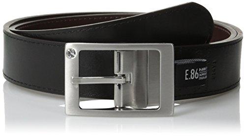 Nike Women's Reversible Leather Belt with Rhinestone Harness Belt, Brown/Black, X-Small