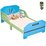 Crayon Themed Wood Kids Bed with Bed Rails by SpiritOne