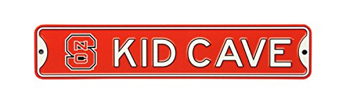 Authentic Street Signs NCAA College Officially Licensed STEEL Kid Cave Sign-Decor for sports fan bed room! ... (NC State Wolfpack) ()
