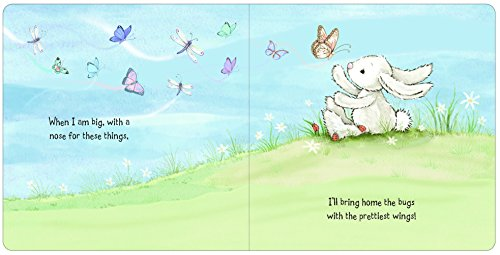 Jellycat When I Am Big Board Book and Bashful Cream Bunny, Medium - 12 inches by Jellycat (Image #1)