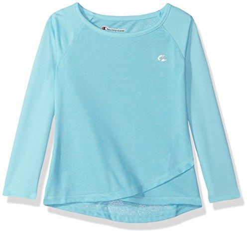 - Champion Little Girls Long Sleeve Performance Active Raglan Tee, Blue Fish, 6