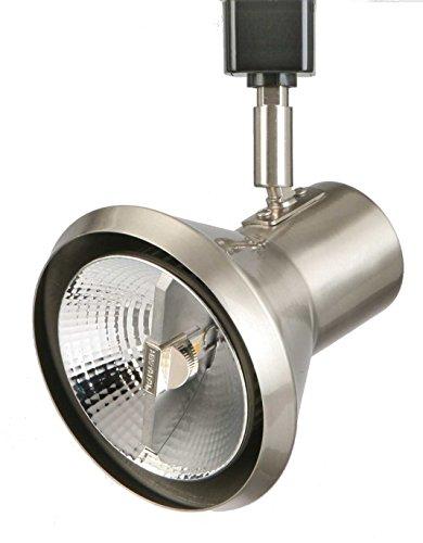 Lithonia Lighting LTH SHDE PAR30 BN M24 1-Light Front Loading Shade Commercial Track Head, PAR30-Compatible Led, Brushed (Directional Track Head)