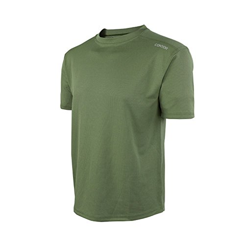 Military T-shirt Wicking Moisture - Condor Outdoor MAXFORT Performance Training Top (Large, Olive Drab)