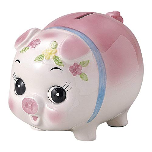 Mino ware Piggy Bank Pig Piggy Bank Coin Bank Pottery KG778-205 Pink Cute Made in Japan