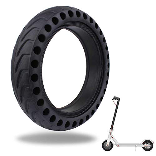 TOMALL Honeycomb Rubber Damping Solid Tire 8.5 Inch Front/Rear Tire Wheel Replacement for Xiaomi M365 Electric Scooter (Rubber Rear Wheels)