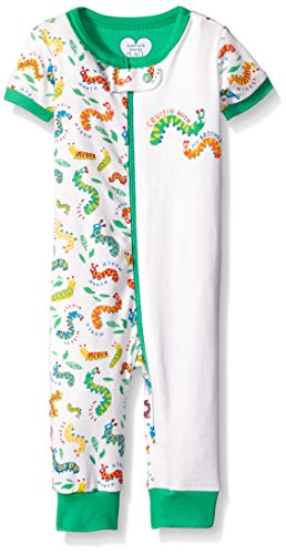 The Children's Place Baby Bro Caterpillar Stretchy Pajamas, Simply White, 0-3 Months