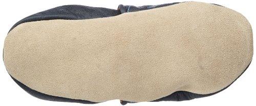 Jack & Lily Shark navy - Zapatos de primeros pasos bebé Azul marino con motivos en gris y naranja