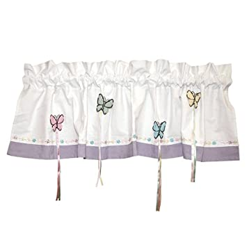 Curtains Ideas butterfly valance curtains : Amazon.com: Bedtime Butterfly Window Valance Curtain: Home & Kitchen