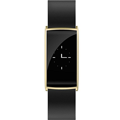 DACHUI Chic waterproof Bluetooth Bracelet Sports Tracker blood pressure heart rate sleep monitoring of customs information 0.96 OLED display, Gold by DACHUI
