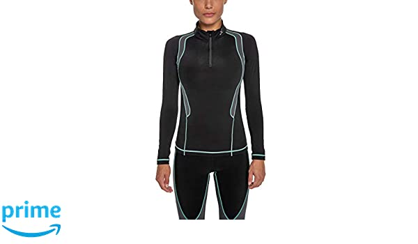 1aa537d1cefbf CW-X Women's Long Sleeve Insulator Web Top, Black/Grey/Turquoise, Small,  Running - Amazon Canada
