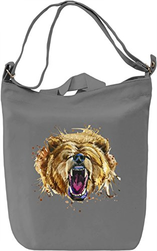 Angry Bear Borsa Giornaliera Canvas Canvas Day Bag| 100% Premium Cotton Canvas| DTG Printing|