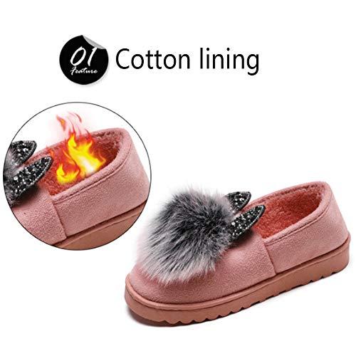 Caldo Pink Donne Casuale pink Scarpe Pacchetto Indoor Casa Pantofole Cotone Donna 37 Signore Inverno Moda Scarpe Gpfdm HTBqWxa8q