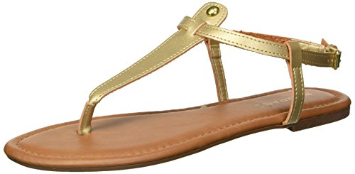 Rampage Women's Pashmina Flat Sandal, Burnished Gold, 9 M US ()