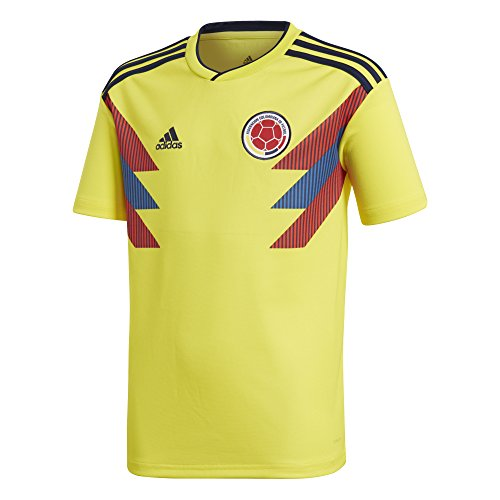(adidas Youth Colombia 2018 Home Replica Jersey Yellow/Blue L)