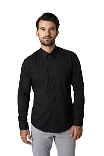 7 Diamonds London by Night Long Sleeve Shirt (Large, Black)