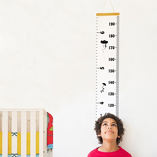 Decor Tape (Baby Growth Chart Hanging Rulers Room Decoration Wall Decor Removable Canvas Large Height Measuring Tape Wood Frame for Baby Infant Kids Toddlers Adult Nursery Bedroom Classroom 79''x7.9'' (Car))