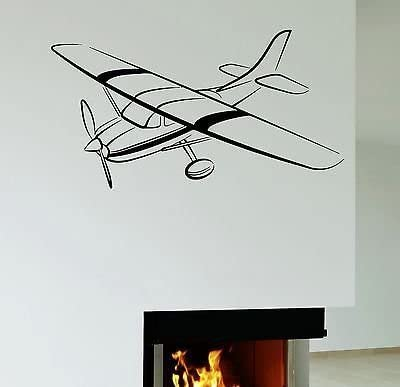 Wall Decal Plane Airplane for Kids Boys Room Decor Vinyl Stickers VS2639