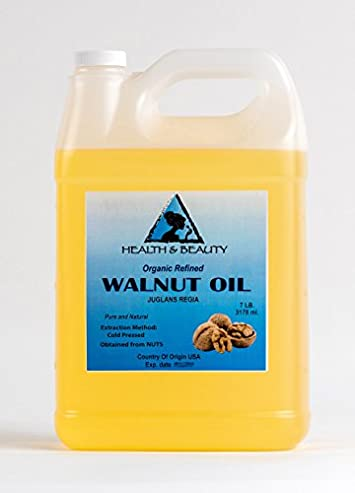Walnut Oil Organic Carrier Natural Cold Pressed 100 Pure 128 oz, 7 LB, 1 gal