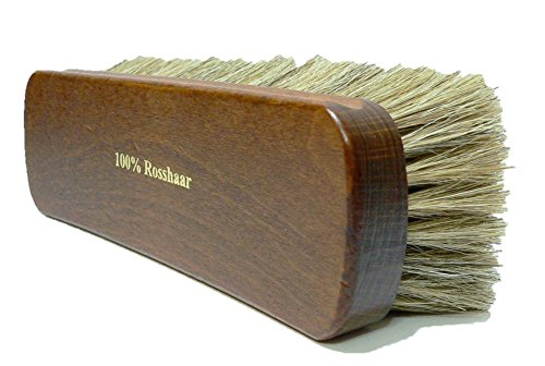 Shoe Polishing Brush – Luxury Shining Brush with Real Horse Hair (White Bristles)