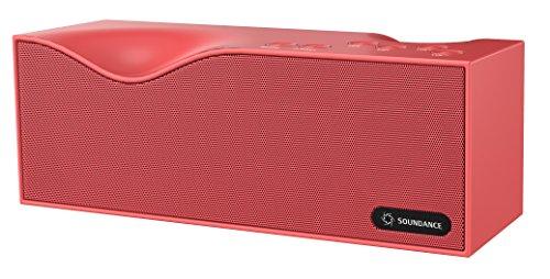 Haut-parleurs Soundance® Bluetooth avec radio FM, micro intégré, affichage LED, support 3.5mm Audio Line In, TF / Micro SD Card et USB entrée, le modèle B1 (rose)