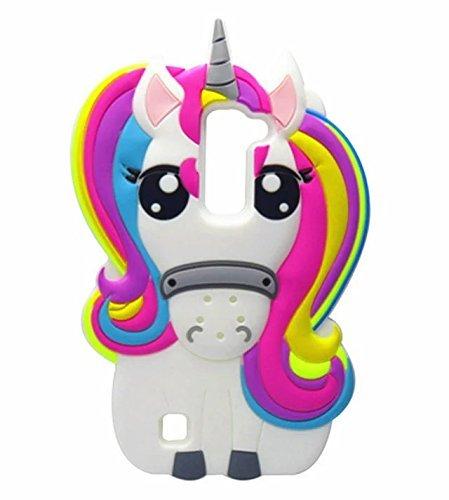 pretty nice 0548e 5cc84 LG K7 Case,LG K8 Case,LG Tribute 5 Case,LG Escape 3 Case,LG Phoenix 2  Case,Awin 3D Cute Cartoon Rainbow Unicorn Horse Animal Soft Silicone Rubber  ...